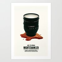nightcrawler Art Prints featuring Nightcrawler by SG Posters