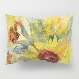 Watercolor Sunflower Bouquet Pillow Sham