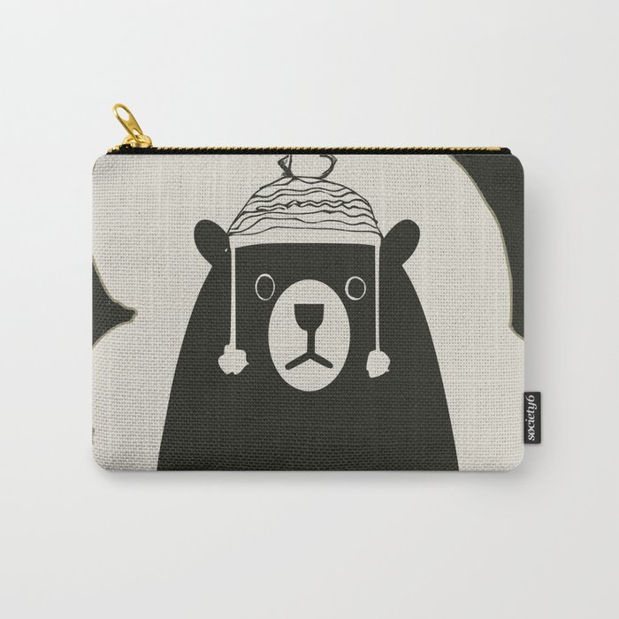 Bear illustration for kids Carry-All Pouch