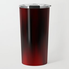 Black and Red Abstract Streaks Travel Mug