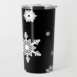Snowflakes | Black & White Travel Mug