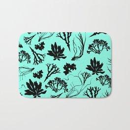 Seaweed Mint Green Pattern Bath Mat