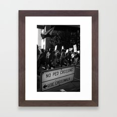 The People Framed Art Print