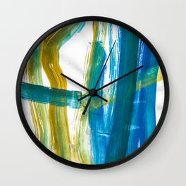 Cohesion Energy Lightroom Watercolor Wall Clock