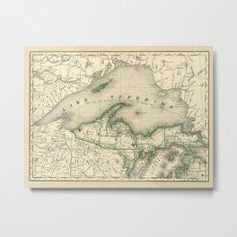 Lake Superior 1878 Metal Print