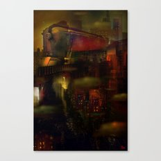 Train de nuit Canvas Print
