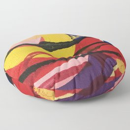 Swirling a chasm Floor Pillow