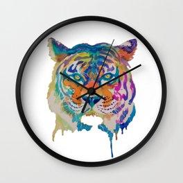 Dripping Paint Tiger Wall Clock