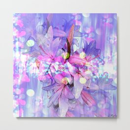 LILY IN LILAC AND LIGHT Metal Print