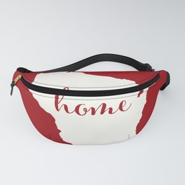 Wisconsin is Home - White on Red Fanny Pack