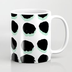 Abstract painted Dots minimal black and white Mug