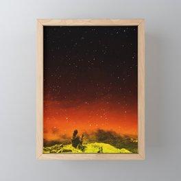 Burning Hill Framed Mini Art Print