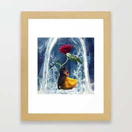 Beauty and the Beast-Rose Framed Art Print