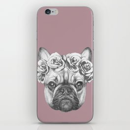 Pink Frenchie iPhone Skin