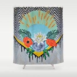 Calia, A Late Summer's Bloom Shower Curtain