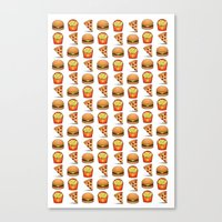 junk food Canvas Prints featuring Junk Food by M☽☾n Babies