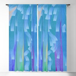 Showers of Blue Blackout Curtain