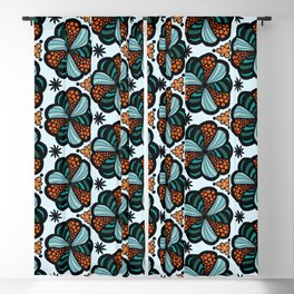 Cookies and Candy Turquoise & Orange Blackout Curtain