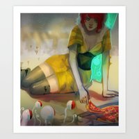 transistor Art Prints featuring Transistor  by Ormille