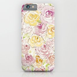 Faded Roses - Watercolor iPhone Case