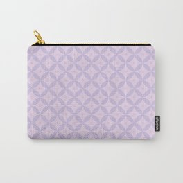 Abstract geometric pattern lavender Carry-All Pouch