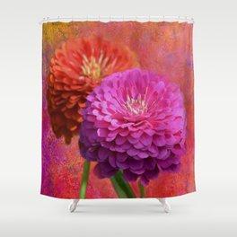 Zinnias in Bloom Shower Curtain