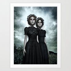 Deadly Halloween Twins – They are coming Art Print
