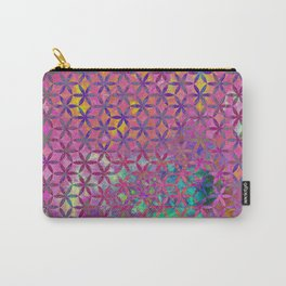 Flower-of-Life Paint Pattern Purple Carry-All Pouch