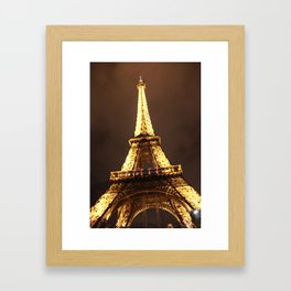 Eiffel Tower at Night Framed Art Print