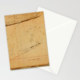 Map of Tripoli 1804 Stationery Cards