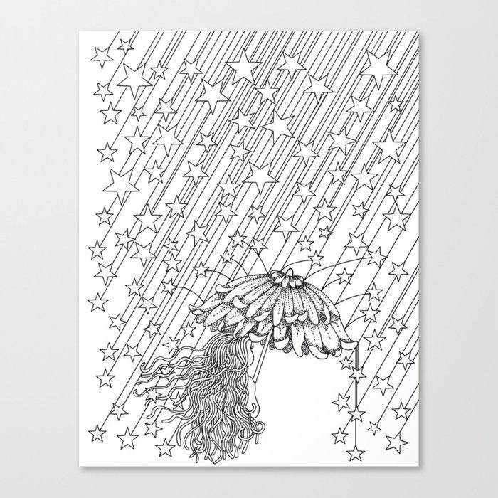 Star Shower Canvas Print