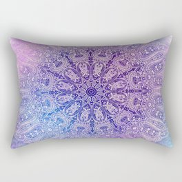 big paisley mandala in light purple Rectangular Pillow
