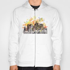 Los Angeles Cityscape Skyline Painting Hoody