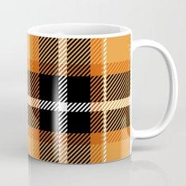Orange + Black Plaid Coffee Mug