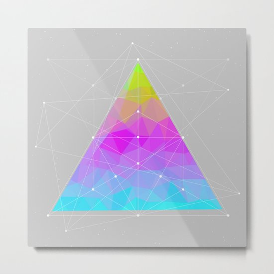 The Dots Will Somehow Connect (Geometric Pyramid) Metal Print