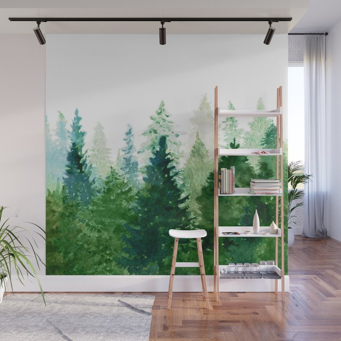 Pine Trees 2 Wall Mural