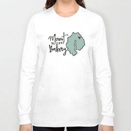 Mount Dessert Bakery Logo Long Sleeve T-shirt