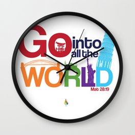 Mathew 28:19 Wall Clock