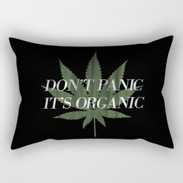 Don't Panic it's Organic Vintage Potleaf Print Rectangular Pillow