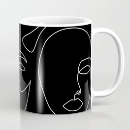 Faces in Dark Coffee Mug