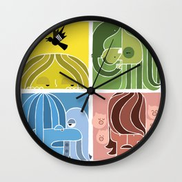 Fab Four Pets Wall Clock