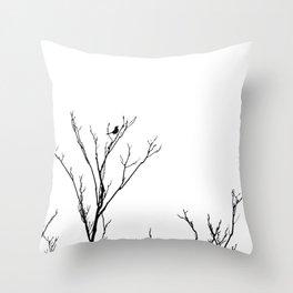 LITTLE BIRD LIGHT Throw Pillow