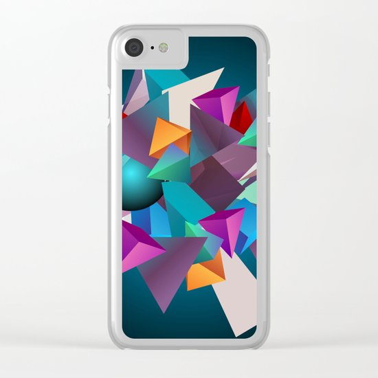 3D Geometric Clear iPhone Case