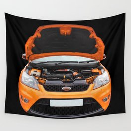 Orange Focus Wall Tapestry