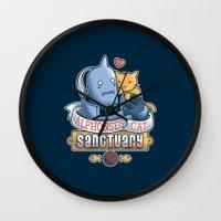 fullmetal Wall Clocks featuring Alphonse's Cat Sanctuary by adho1982