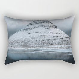 Kirkjufell Mountain in Iceland - Landscape Photography Rectangular Pillow