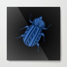 Escarabajo azul Metal Print
