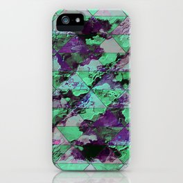 Oval with triangles iPhone Case