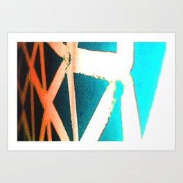 Orange/Blue Art Print