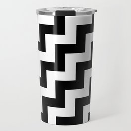 White and Black Steps RTL Travel Mug